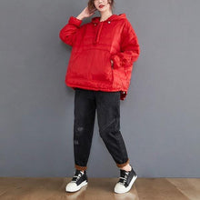 Load image into Gallery viewer, plus size oversized Cotton hooded casual loose autumn winter woman jacket 2020 Coat clothes women outerwear