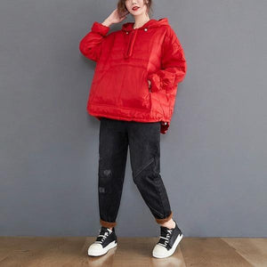 plus size oversized Cotton hooded casual loose autumn winter woman jacket 2020 Coat clothes women outerwear