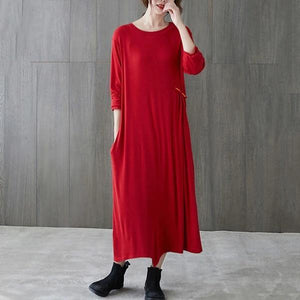 omychic plus size cotton vintage for women casual loose spring autumn dress