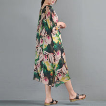 Load image into Gallery viewer, Loose Round Neck Half Sleeve Printed Dress Two Pieces