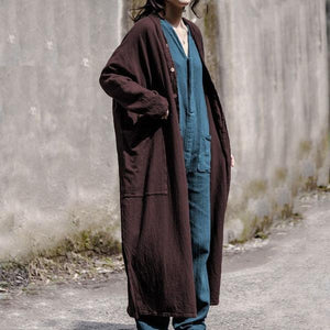 Trench Vintage 2020 Autumn New Pockets Long Sleeve 5 Colour Large Size Women Clothes