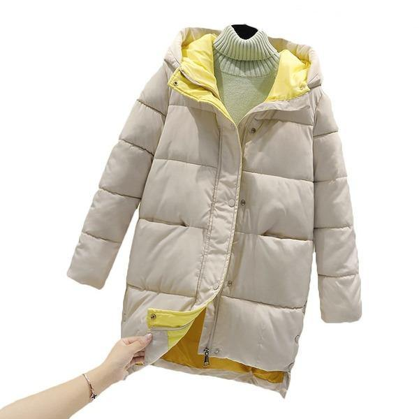 2020 New Winter Korean Hooded Mid-Length Cotton-Padded Jacket