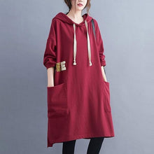 Load image into Gallery viewer, Oversized Women Casual Dress Female Hooded Knee-length Dress