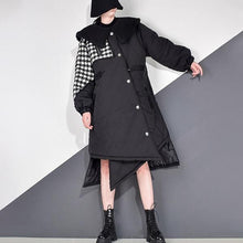 Load image into Gallery viewer, New Asymmetrical Long Lantren Sleeve Single Breasted Coat