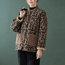 Load image into Gallery viewer, Winter Vintage Print Loose Comfortable Female Outerwear Coats