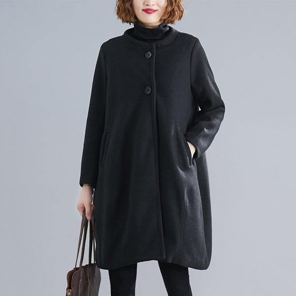 gray black wool plus size casual loose autumn winter coat women 2020 clothes Outerwear