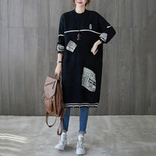 Load image into Gallery viewer, long sleeve plus size knitted vintage for women casual midi autumn winter sweater dress
