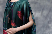 Load image into Gallery viewer, Summer Floral Casual  Dark Green Pocket Dress