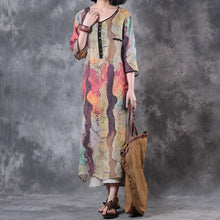 Load image into Gallery viewer, Women Summer Colorful Polyester Dress
