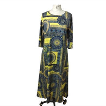 Load image into Gallery viewer, cotton plus size vintage floral women casual loose long summer autumn dress   sundress for