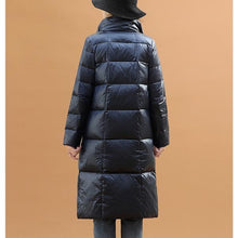 Load image into Gallery viewer, Black Double Side Wear Outerdoor Female Coats Long  Warm Down Coat Puffer Jacket Parka