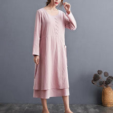 Load image into Gallery viewer, Autumn Arts Style Vintage Solid Color Loose Ladies Elegant A-line Casual Dresses