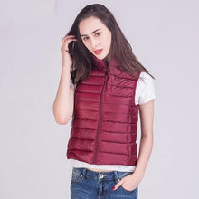 Load image into Gallery viewer, 2020 Winter New 90% White Duck Down Vest Stand Collar Warm Down Jacket 12 Colors S-3XL