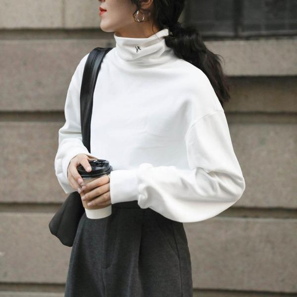 Winter Trendy Fashion New Style Turtleneck Collar Long Sleeve Slim Pullover