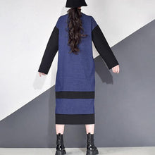 Load image into Gallery viewer, Pleated Dress Fashion New Women Pleated Goddess Fan 2020 Striped Pullover Loose Minority Long Full Sleeve Dress