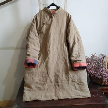 Load image into Gallery viewer, Women Chinese Style Parkas Coats Warm Female Clothes A-Line Parkas