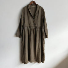 Load image into Gallery viewer, 2020 Spring New Linen Vintage Women Trench Button Coats