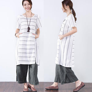 Summer Short Sleeves Women Casual White Dress