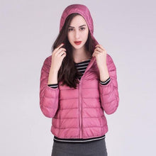 Load image into Gallery viewer, 2020 Fall Winter New Plus Size 12 Color Pockets Zipper Slim Warm Down Coat