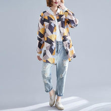 Load image into Gallery viewer, omychic cotton autumn vintage korean style plus size Casual loose blouse women shirt 2020 clothes ladies tops streetwear