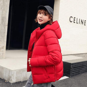 Vintage Jackets Women Winter 2020 New Hooded Cotton Parkas Coat