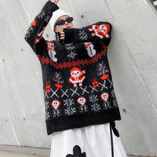 Load image into Gallery viewer, Cartoon Print Pattern Knitted Sweater Women 2020 Winter Casual Fashion Style Temperament All Match Women Clothes