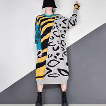 Load image into Gallery viewer, Fashion New Women Pullover Plus Size Small Fresh 2020 Winter Patchwork Minority Loose Dress