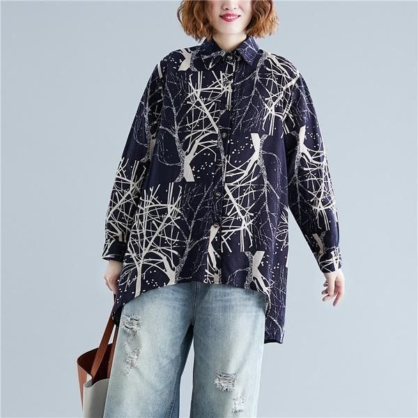omychic cotton autumn vintage korean style plus size Casual loose shirt women blouse 2020 clothes ladies tops streetwear