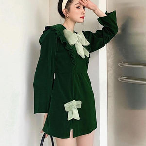 2020 Winter Casual Fashion New Style Temperament All Match Goddess Fan Women Dress