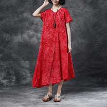Load image into Gallery viewer, Summer Casual High-low Hem Short Sleeve Dress