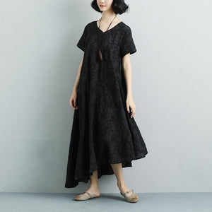 Summer Casual High-low Hem Short Sleeve Dress