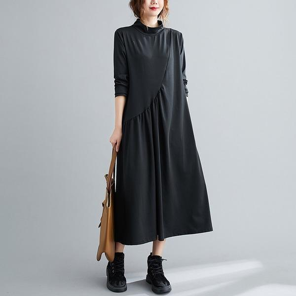 long sleeve plus size knitted vintage for women casual loose spring autumn dress