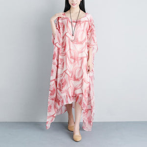 Casual Fake Two-piece Summer Half Sleeve Silky Cotton Dress