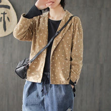 Load image into Gallery viewer, 2020 New Vintage Turn-down Collar Corduroy Original Women Print Coats