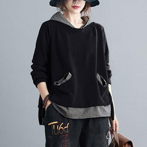 2020 Simple Style All-match Loose Comfortable Female Cotton Hoodies S1789