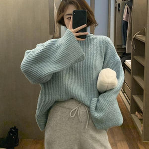Winter Casual Fashion New Style Temperament All Match Women Clothes