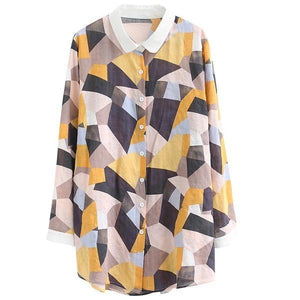 omychic cotton autumn vintage korean style plus size Casual loose blouse women shirt 2020 clothes ladies tops streetwear