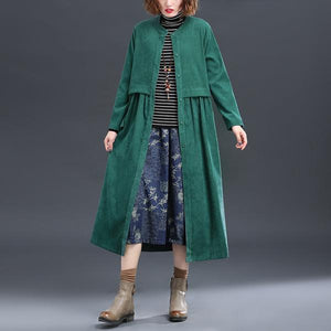 corduroy plus size Oversized vintage women casual loose long autumn spring female trench coat