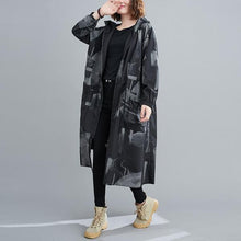 Load image into Gallery viewer, plus size Oversized hooded casual loose long autumn spring  trench coat