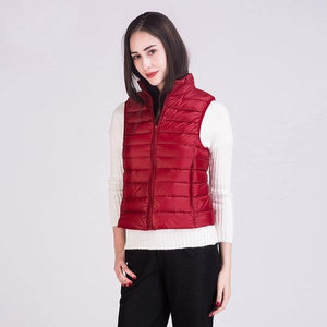 2020 Winter New 90% White Duck Down Vest Stand Collar Warm Down Jacket 12 Colors S-3XL