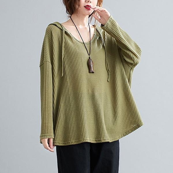 2020 Simple Style Solid Color Loose Comfortable Ladies Pullovers Sweatshirts