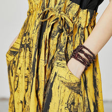 Load image into Gallery viewer, Abstract Printed Spliced Lacing Casual Dress