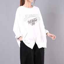 Load image into Gallery viewer, Art o neck cotton clothes For Women Shirts white print blouses