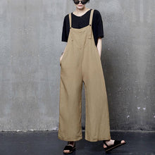 Load image into Gallery viewer, Beautiful yellow carpenter pants flatering  fall wild leg pants linen