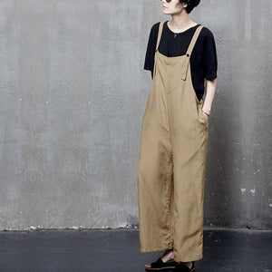 Beautiful yellow carpenter pants flatering  fall wild leg pants linen