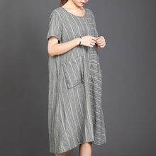 Load image into Gallery viewer, Big Pocket Striped Casual Loose Dress