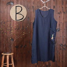 Load image into Gallery viewer, Bird Embroidery Sleeveless Loose Summer Dress