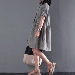 Black New cotton sundress plus size sundress casual loose summer dresses