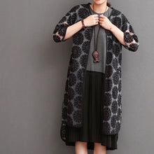 Laden Sie das Bild in den Galerie-Viewer, Black daisy lace cardigan summer