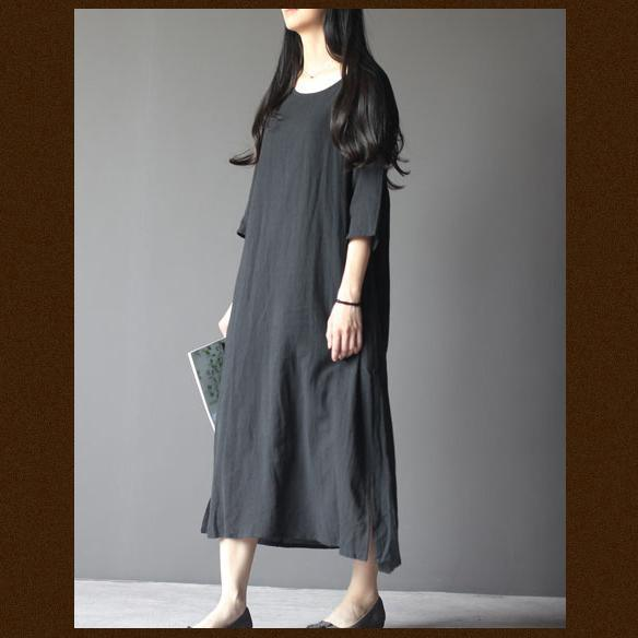 Black linen maternity dress plus size linen summer maxi dresses summer linen clothing
